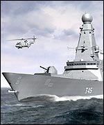 Artist's impression of the T45 destroyer