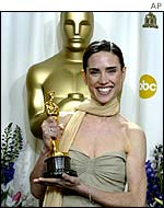 Actress Jennifer Connelly with her Academy Award