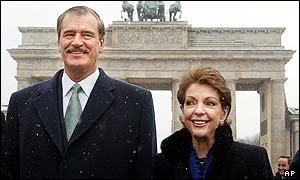 Vicente Fox y su esposa, Marta Sahagun