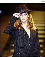 Gisele on the catwalk of Sao Paulo Fashion Week