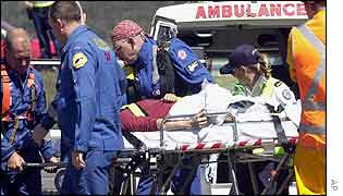 Passenger on a stretcher