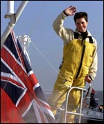 Ellen arriving in London after the Vendee Globe