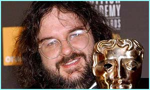 Lord of the Rings director Peter Jackson with his Bafta