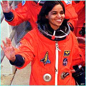 On board was the Indian-born astronaut Kalpana Chawla.  She was the US mission specialist