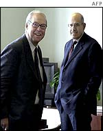 Hans Blix (l) and Mohamed ElBaradei