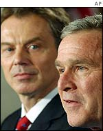 Tony Blair (left) and George Bush