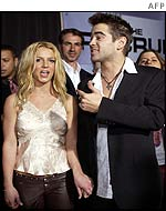 Colin Farrell and Britney Spears at The Recruit première
