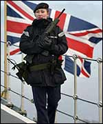 Soldier on Ark Royal