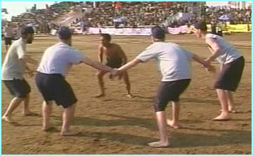 Traditional forms of contest, like kabbadi, are actually the most popular