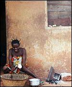 A villager in Ghana