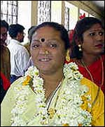 Shabnam Mausi, India's first eunuch MP