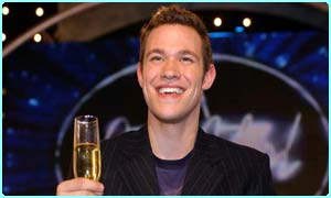Will Young celebrating his win!