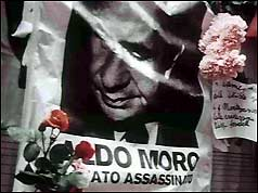Floral tribute to Aldo Moro