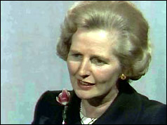 Margaret Thatcher interviewed by the BBC's Michael Cockerell