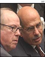 U.N. chief weapons inspector Hans Blix and international atomic energy chief Mohamed ElBaradei
