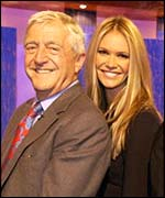 Michael Parkinson with supermodel Elle McPherson