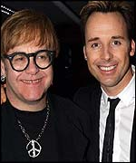 Elton and the lovely david