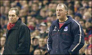 Both managers show contrasting emotions