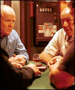 Phil and Frank play poker on EastEnders