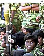 Young Tamil Tiger fighters