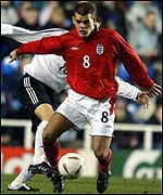 Liverpool midfielder John Welsh in action for England Under-20s against Germany