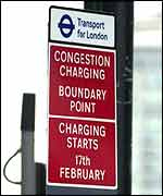 It is hoped the charge will raise �130 million a year for London public transport network.