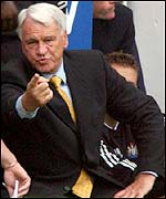 Newcastle boss Sir Bobby Robson
