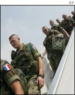 French troops arrive in Abidjan on Friday