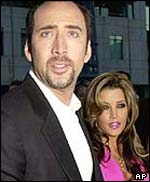 Cage and Lisa-Marie Presley