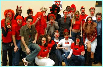 Gareth was just one of many celebs who got together to launch Red Nose Day 2003