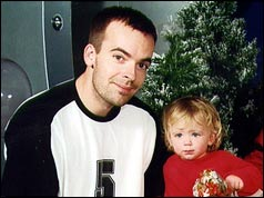 Jamie Thompson with his daughter, Abigail, 2002