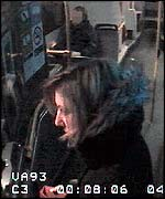 CCTV footage of Martha getting off the bus