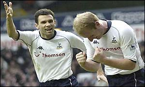 Gus Poyet and Gary Doherty both score for Spurs