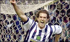 Andy Johnson scores a late leveller for West Brom