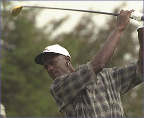 Michael Jordan likes playing golf in his spare time