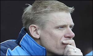 Peter Schmeichel watches the Manchester derby