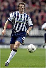 Andy Johson in action for West Brom