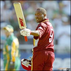 Brian Lara hits 116 as West Indies recover from a bad start to score 278-5 in their 50 overs