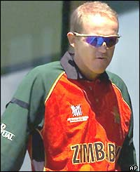 Zimbabwe's Andy Flower ahead of the team's opening World Cup match against Namibia