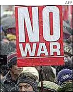 Anti-war protester