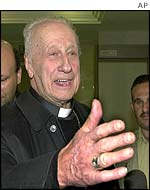 Pope John Paul II's envoy to Iraq Cardinal Roger Etchegaray