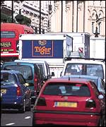 Congestion in central London