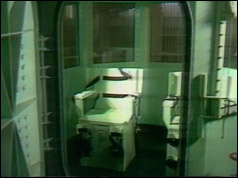 Photo of the gas chamber in San Quentin jail