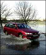 Car in flood   PA