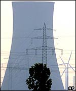 Cooling tower and wind turbines   AP