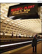 Security warnings on Washington metro