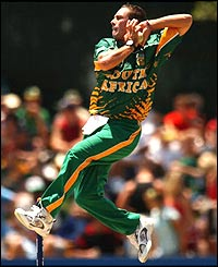 Nicky Boje of South Africa in action