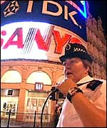 Police woman in Piccadilly Circus