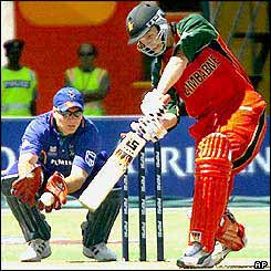 Zimbabwe's Craig Wishart on his way to scoring 172 not out