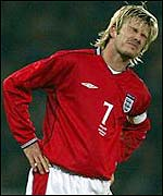 England captain David Beckham